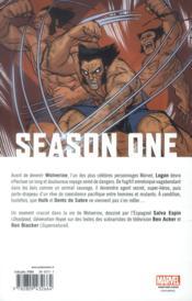 Wolverine season one - 4ème de couverture - Format classique