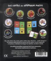 Les contes des animaux malins ; coffret - 4ème de couverture - Format classique