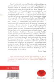 Journal des Goncourt ; mémoire de la vie littéraire t.2 ; 1866-1886 - 4ème de couverture - Format classique