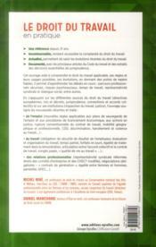 Le droit du travail en pratique (26e édition) - 4ème de couverture - Format classique