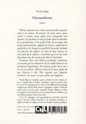Chrysanthèmes - 4ème de couverture - Format classique