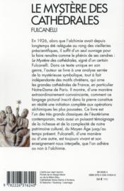 Le mystère des cathédrales - 4ème de couverture - Format classique
