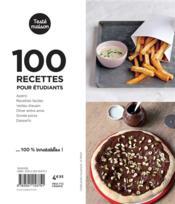 Les petits Marabout ; 100 recettes pour étudiants - 4ème de couverture - Format classique