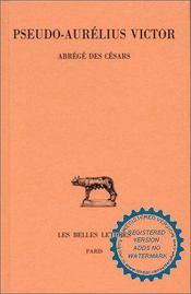 Abrégé des Césars - Intérieur - Format classique