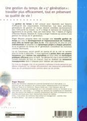 Une nouvelle gestion du temps ! qualité de vie et efficacité personnelle - Couverture - Format classique
