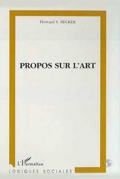 Propos sur l'art - Intérieur - Format classique