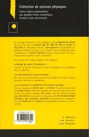 Exercices Et Problemes De Chimie Generale Spe - 4ème de couverture - Format classique