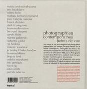 Photographies contemporaines, points de vue - 4ème de couverture - Format classique