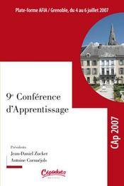 Cap 2007 ; actes de la conférence francophone sur l'apprentissage automatique - Intérieur - Format classique