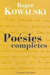 Poesies completes - Intérieur - Format classique