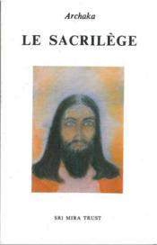 Le Sacrilege - Couverture - Format classique