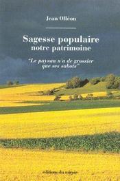 Sagesse Populaire : Notre Patrimoine - Intérieur - Format classique