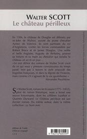 Le château périlleux - 4ème de couverture - Format classique
