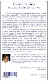 Chroniques d'une invitation à la vie t.7 ; la voix de l'âme - 4ème de couverture - Format classique