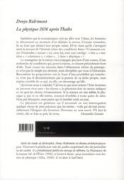 La physique, 2636 après Thalès - 4ème de couverture - Format classique