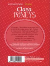 Clara et les poneys t.6 ; du nouveau au poney-club ! - 4ème de couverture - Format classique