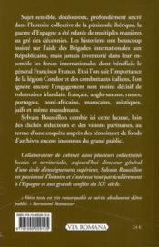 Les brigades internationales de Franco - 4ème de couverture - Format classique