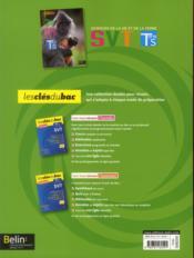 SVT ; terminale S, enseignement obligatoire ; manuel de l'élève - 4ème de couverture - Format classique