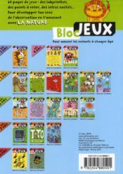 Bloc jeux ; la nature - 4ème de couverture - Format classique