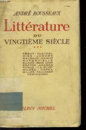 Litterature Du Vingtieme Siecle. Tome 3. - Couverture - Format classique