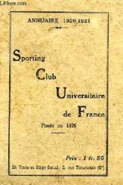 Sporting Club Universitaire De France, Annuaire 1920-1921 - Couverture - Format classique