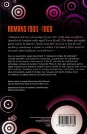Romans 1965 - 1969 - 4ème de couverture - Format classique