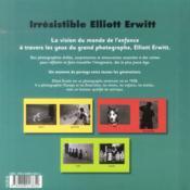 Le petit monde d'Elliott Erwitt - 4ème de couverture - Format classique