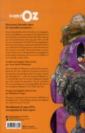 Le cycle d'Oz t.2 - 4ème de couverture - Format classique