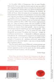 Journal des Goncourt ; mémoire de la vie littéraire t.3 ; 1887-1896 - 4ème de couverture - Format classique
