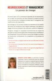 Neurosciences et management ; le pouvoir de changer (2e édition) - 4ème de couverture - Format classique
