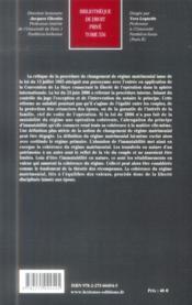 Mutualité et cohérence du régime matrimonial - 4ème de couverture - Format classique