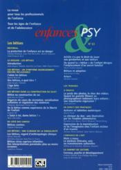 Enfances Et Psy N.63 ; Les Bêtises - 4ème de couverture - Format classique