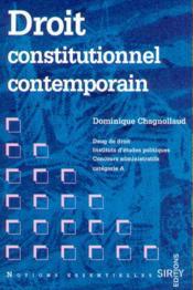 Droit Constitutionnel Contemporain ; 1e Edition - Couverture - Format classique