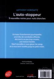 L'autostoppeur ; 9 nouvelles noires pour nuits blanches - 4ème de couverture - Format classique