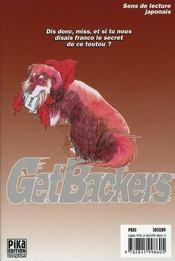Get backers t.27 - 4ème de couverture - Format classique