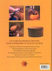 Artisanat Du Bois - 4ème de couverture - Format classique