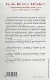 Economie Des Regions Mediterraneennes Et Developpement Durable ; Experiences Mediterraneennes - 4ème de couverture - Format classique