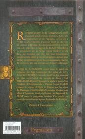 Legendes de la fantasy - 4ème de couverture - Format classique