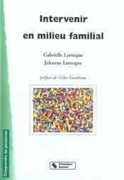 Intervenir En Milieu Familial - Intérieur - Format classique