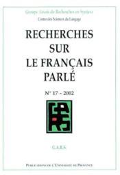 Rech sur le franc parl 17 - Couverture - Format classique