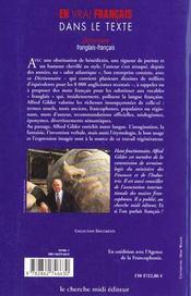 Dictionnaire De La Francisation - 4ème de couverture - Format classique