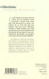 L'Italie Racontee Par Ses Ecrivains - 4ème de couverture - Format classique