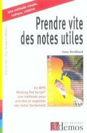 Prendre vite des notes utiles - Intérieur - Format classique
