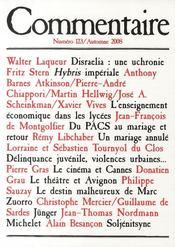 Revue Commentaire N.123 - Couverture - Format classique