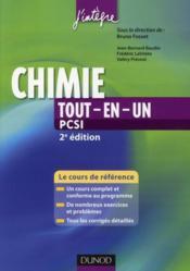 Chimie tout-en-un ; PCSI ; cours et exercices corrigés (2e édition) - Couverture - Format classique