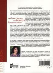 La concordance des temps en espagnol moderne ; unité du signe, modes, subordination - 4ème de couverture - Format classique