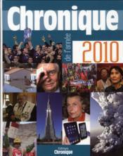 Chronique de l'année 2010 - Couverture - Format classique