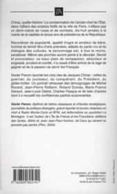 Chirac ; les 5 visages d'un président - 4ème de couverture - Format classique