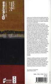 Graines de quotidien ; à la une d'Ouest-France ; 2001-2011 - 4ème de couverture - Format classique