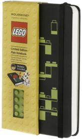 Carnet Lego noir ; poche ; blanc - Couverture - Format classique